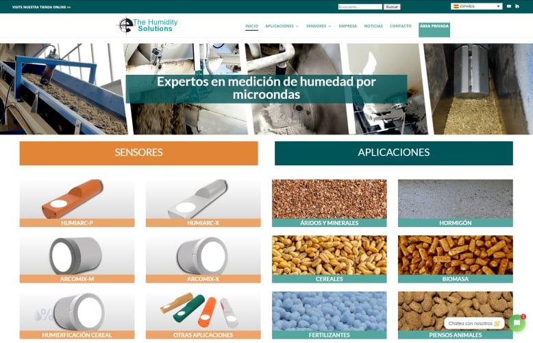 Nueva web de medición de humedad por microondas
